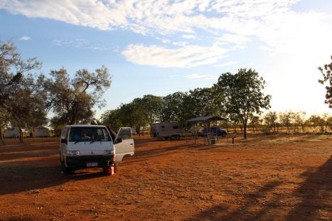 our van at a camping spot