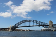 harbour bridge from the ferry