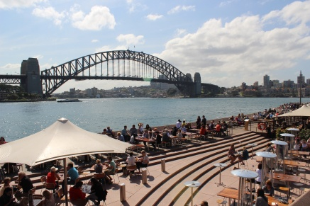 view from the opera to harbour bridge